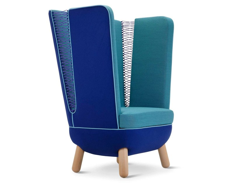 High-back fabric lobby chair SLY HIGH | High-back armchair by Adrenalina