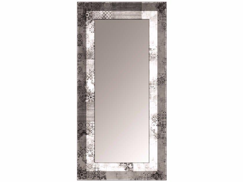 Rectangular framed glass-fibre mirror SM-01F by MOMENTI