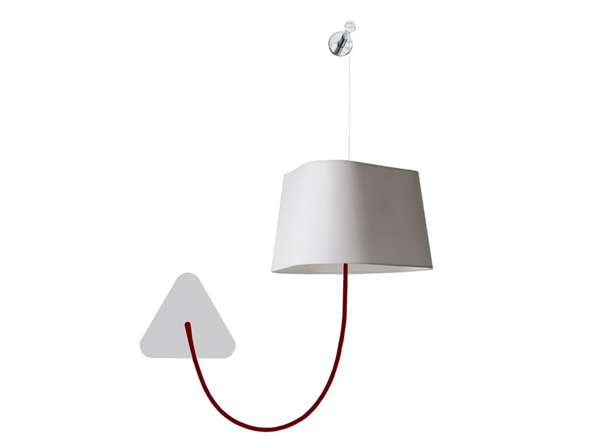 LED wall light with fixed arm SMALL FIXED ROD NUAGE | Wall light by designheure