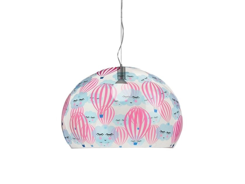 PMMA pendant lamp SMALL FL/Y KIDS by Kartell