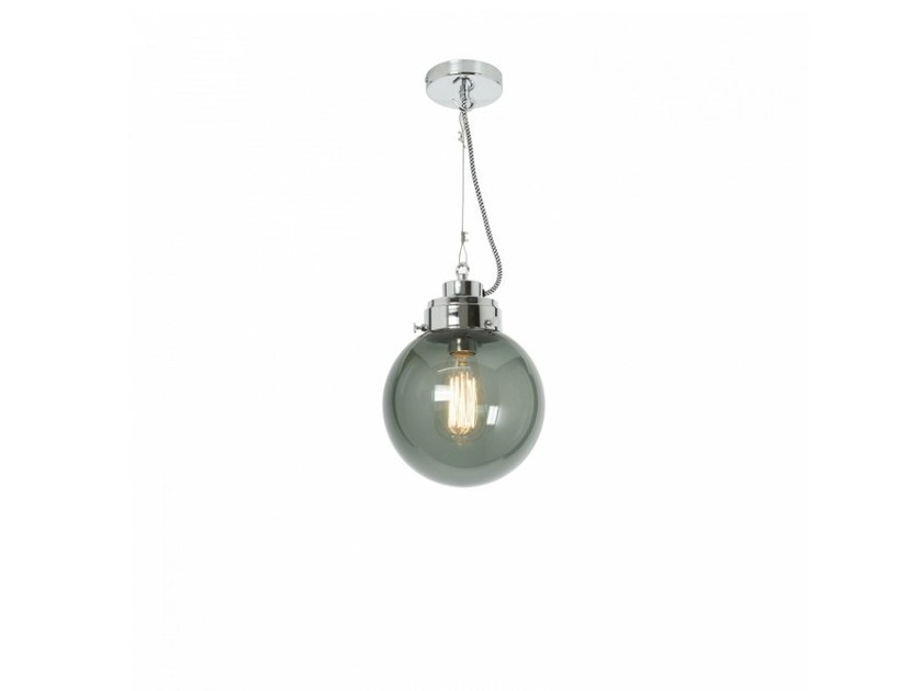 Glass pendant lamp with dimmer SMALL GLOBE by Original BTC
