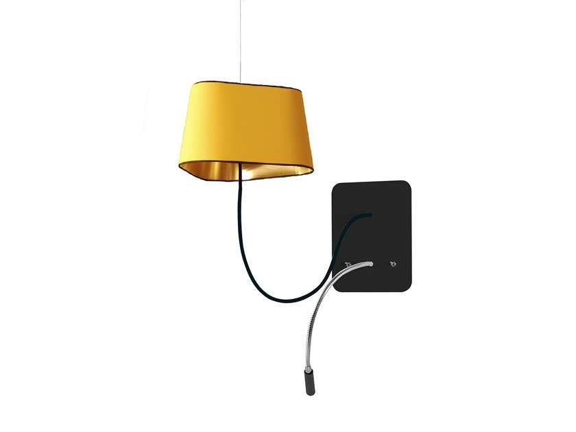 Contemporary style LED steel wall light with swing arm SMALL NUAGE | Wall light with swing arm by designheure