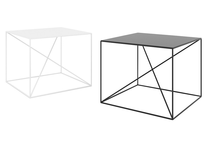 Square powder coated steel coffee table SMALL X by take me HOME