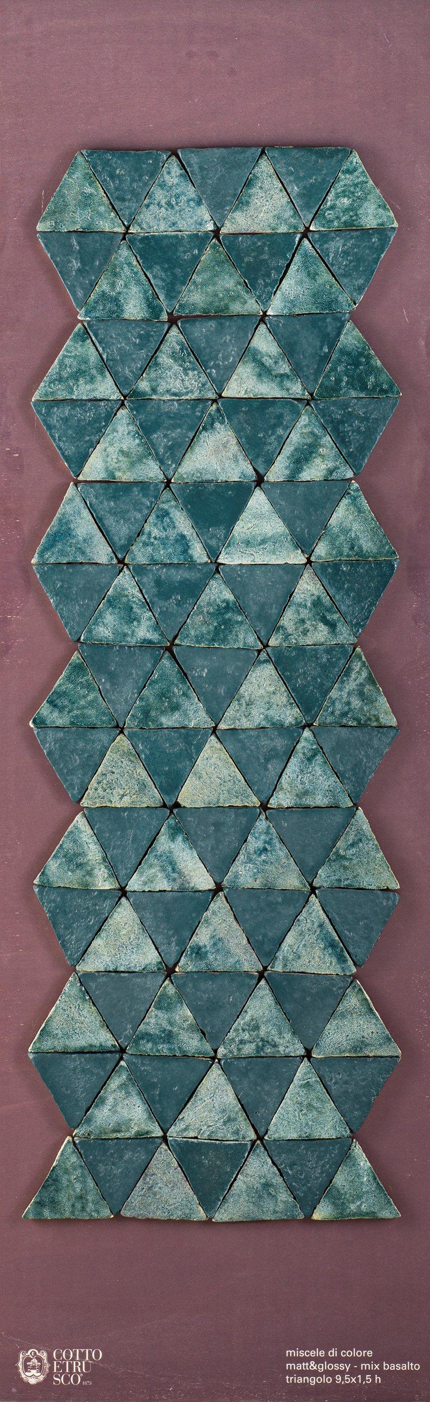 SMALTI - MATT & GLOSSY Triangolo L9.5 - Matt&Glossy - Basalto
