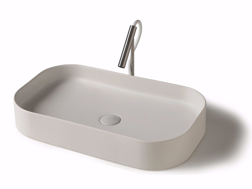 Countertop ceramic washbasin SMART B  - 38x65 cm by GALASSIA