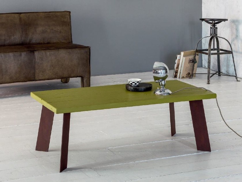 Rectangular solid wood coffee table SMART | Coffee table by Devina Nais