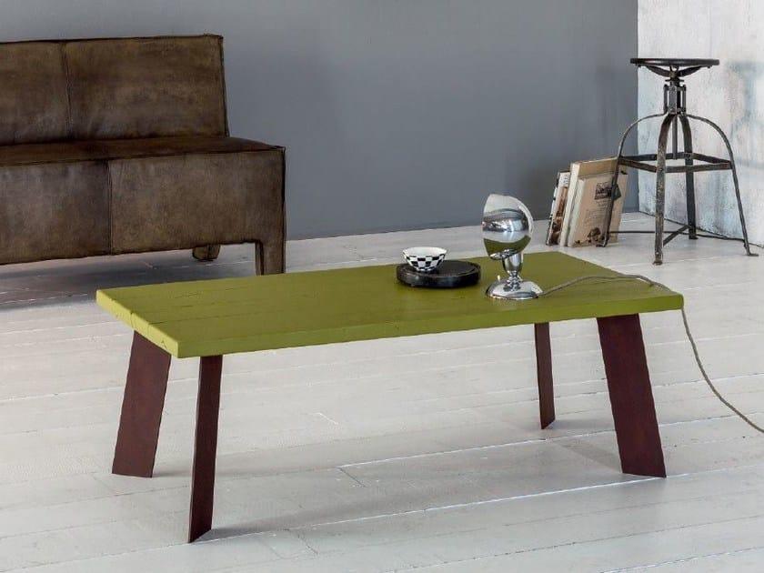 Tavolino da caffè rettangolare in legno massello SMART | Tavolino by Devina Nais