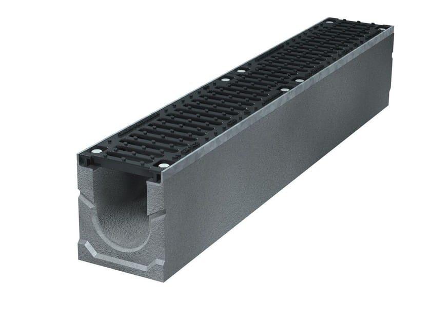 SMART PRO 100 H185 | Elemento e canale di drenaggio Canale Smart Pro 100 H185 C250
