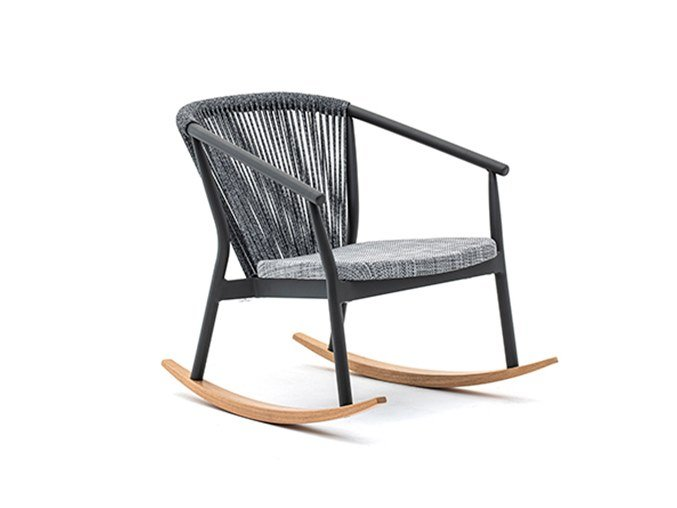 Rocking easy chair with armrests SMART | Rocking easy chair by Varaschin