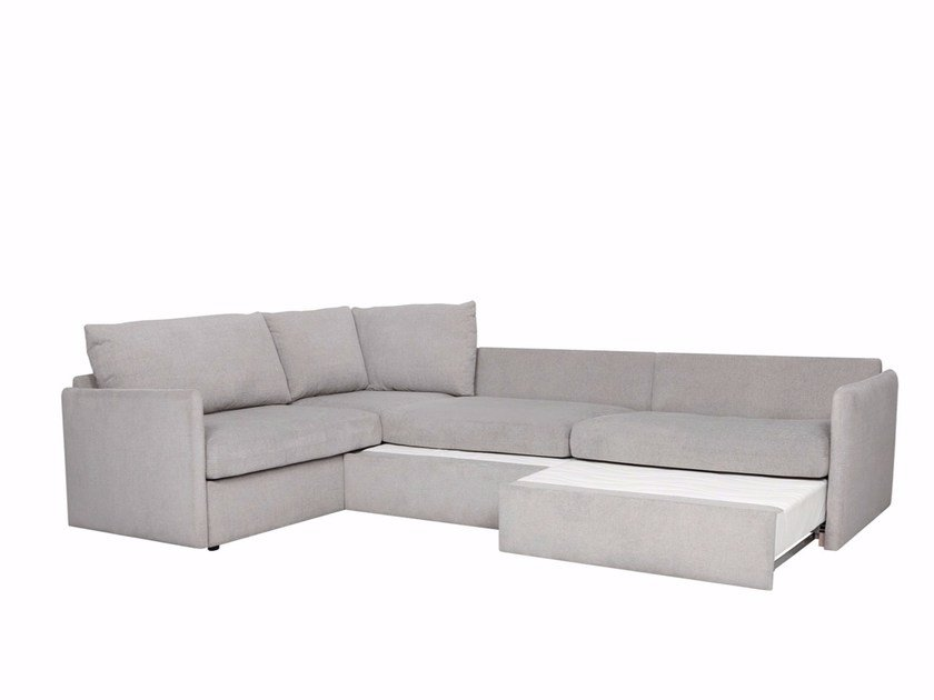 Corner sectional fabric sofa bed SMART by Sits