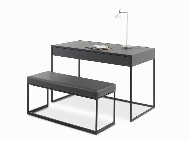 Rectangular leather writing desk SMART | Writing desk by YOMEI