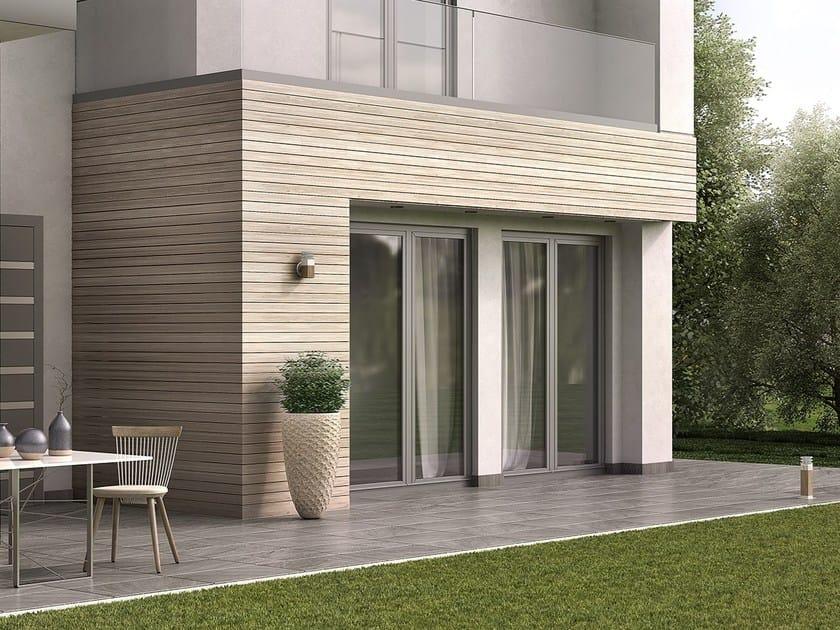 Finestra a battente a taglio termico in alluminio e legno SMARTIA S67 by Alumil