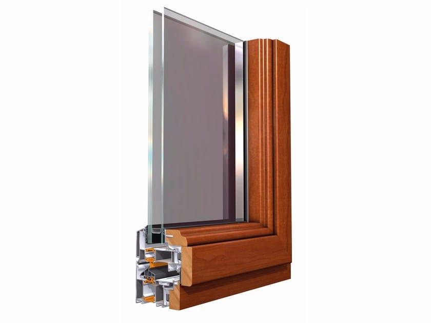 Aluminium and wood window SMARTIA M23000 by Alumil