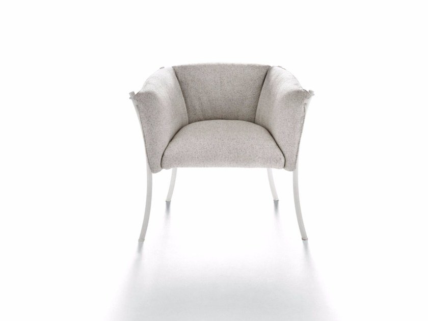 Fabric easy chair with armrests SMERALDA INDOOR | Easy chair by DE PADOVA