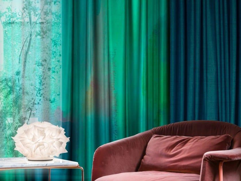Trevira® CS fabric for curtains SMERALDO by Inkiostro Bianco