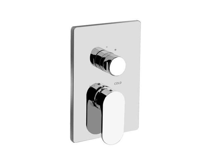 2 hole shower mixer with diverter SMILE 64  - 6450178 by Fir Italia