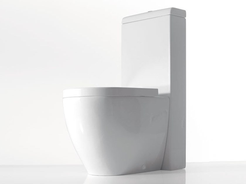 Close coupled Floor mounted ceramic toilet SMILE | Close coupled toilet by Ceramica Cielo