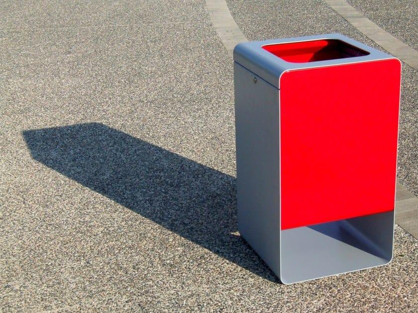 Outdoor steel litter bin SMITH | Litter bin by LAB23 Gibillero Design