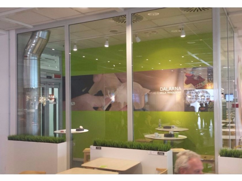 Glass and aluminium partition wall SMOKE-ONE by Fintek