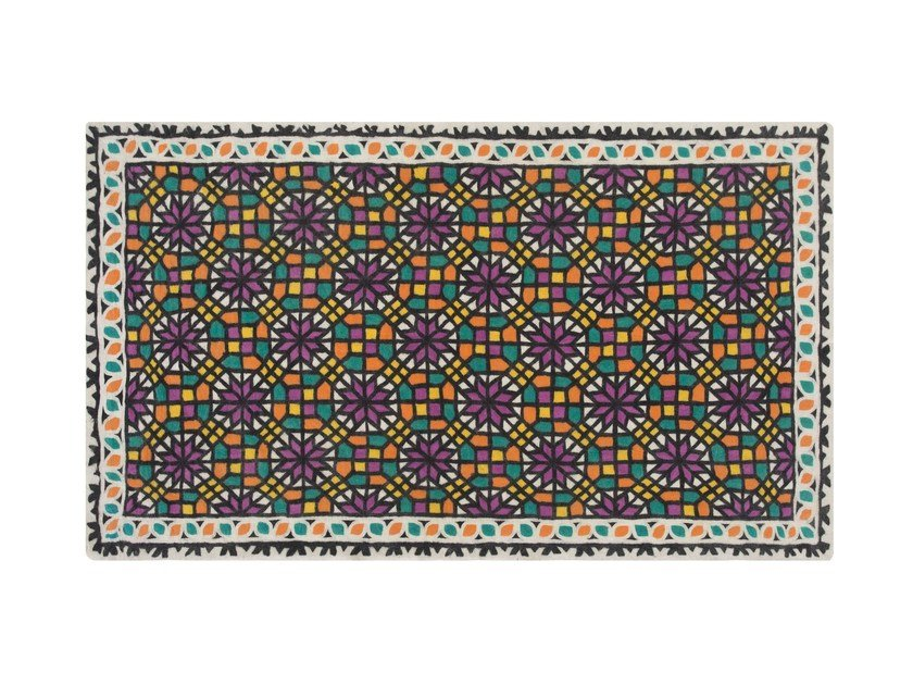 Wool rug with geometric shapes SMOOTH by GAN