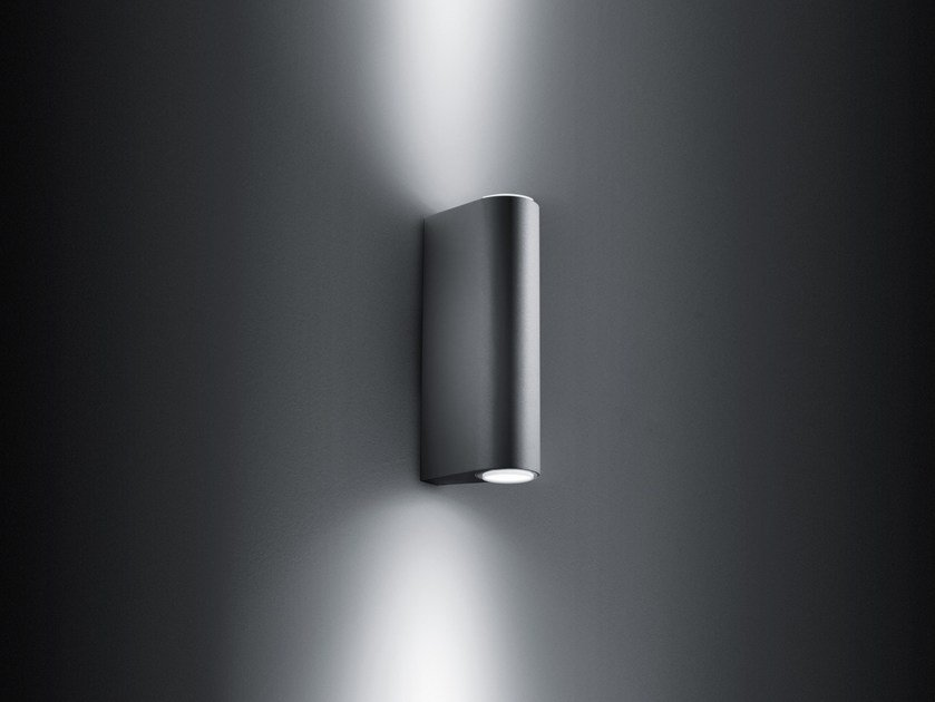 LED direct-indirect light extruded aluminium Outdoor wall Lamp SMOOTH | Outdoor wall Lamp by SIMES