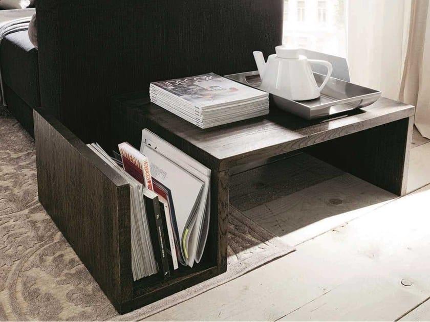 Couchtisch Aus Holz Mit Integriertem Zeitungsstander Fur Wohnzimmer