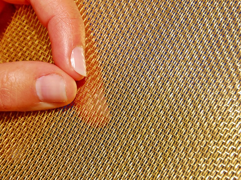 Brass Metal fabric and mesh SNAKE GOLD by MeshArt™