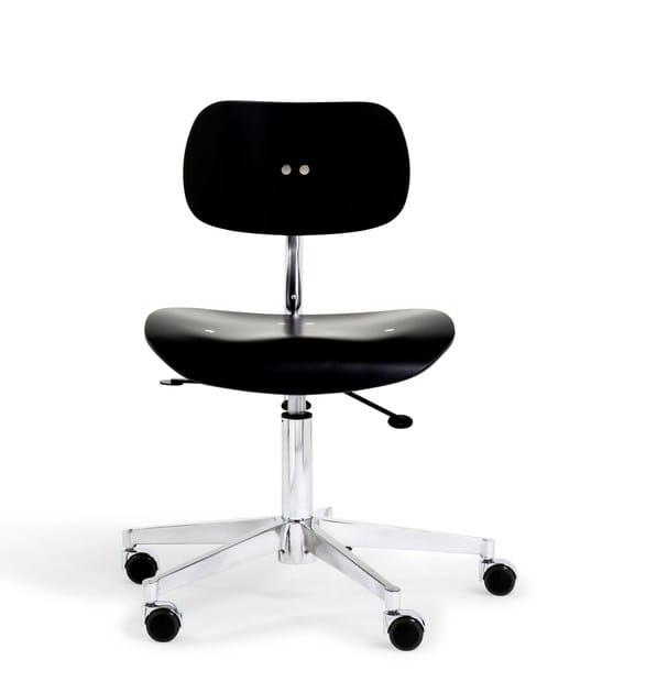 Bürostuhl design holz  5-Speichen- höhenverstellbarer Bürostuhl aus Holz mit Rollen SNG ...