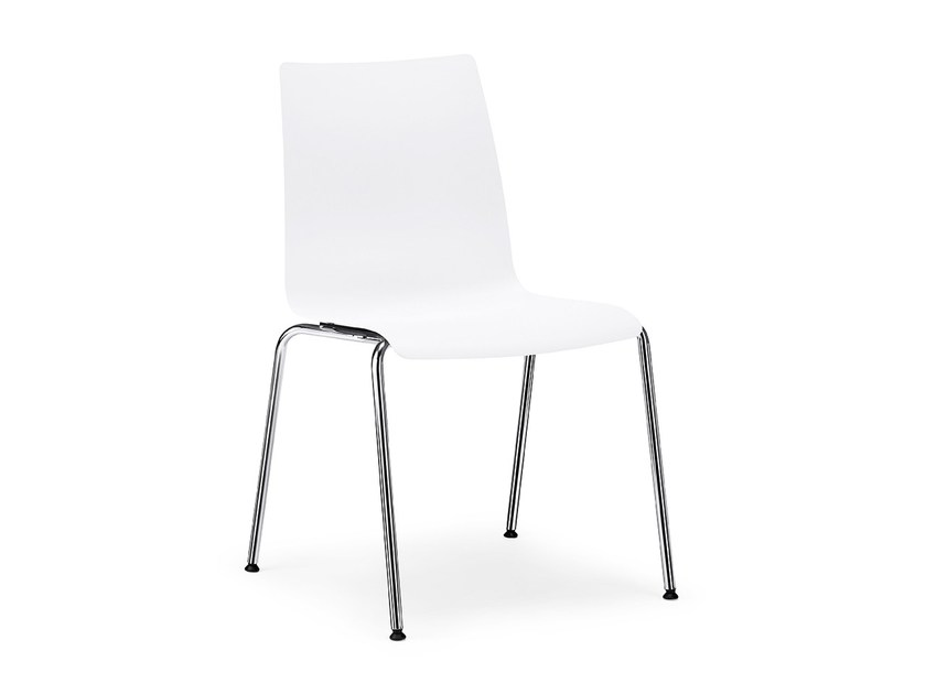 Stackable plastic reception chair SNIKE IS1 S10C by Interstuhl