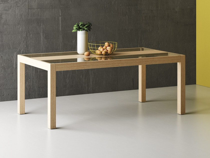 Rectangular oak dining table SNOW by Imperial Line