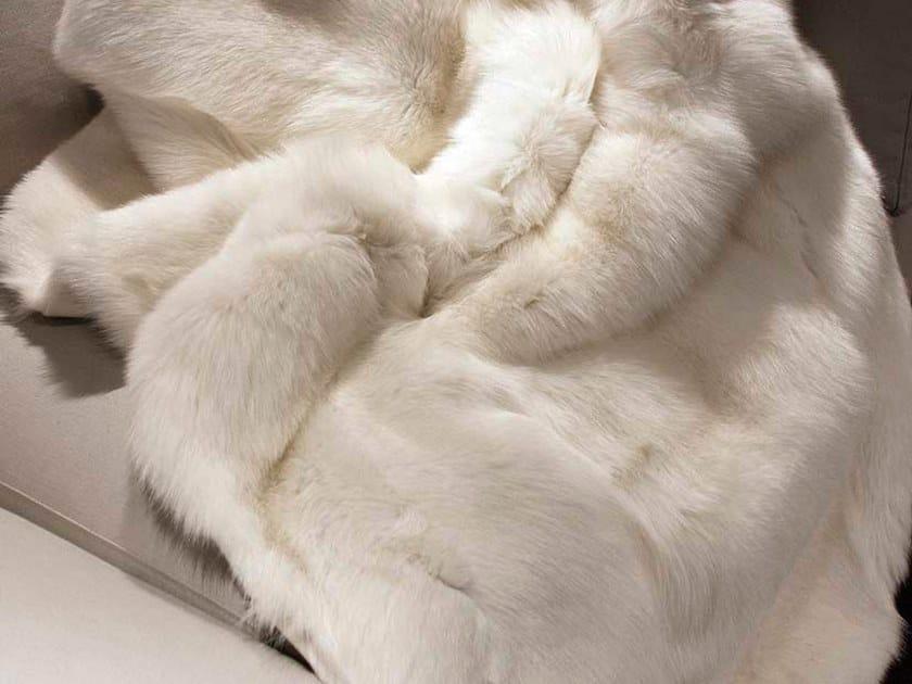Natural fur throw and cushions SNOW by Miyabi casa