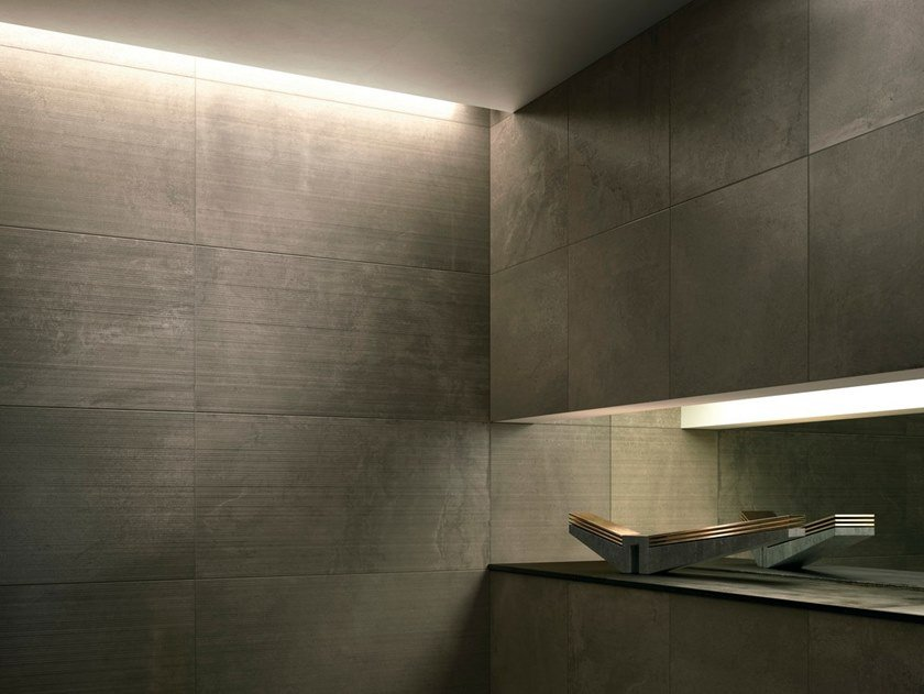 Anti-slip porcelain stoneware wall/floor tiles with concrete effect with resin effect SNUG CORE by GranitiFiandre