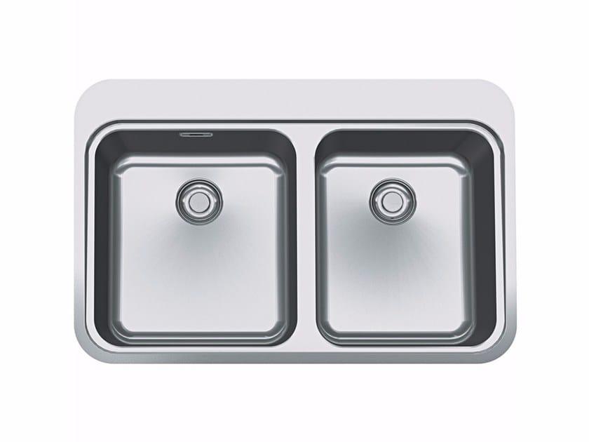 Lavello a 2 vasche da incasso in acciaio inox SNX 220 by FRANKE