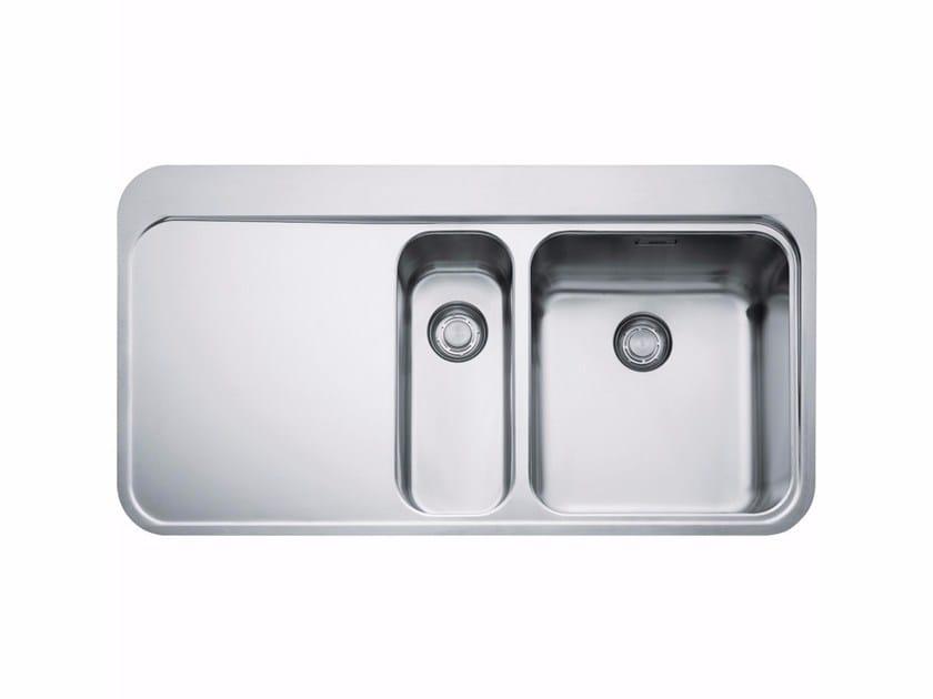 Lavello a una vasca e mezzo in acciaio inox con sgocciolatoio SNX 251 by FRANKE