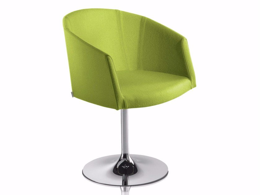 Swivel chair with armrests with fire retardant padding SO-CHIC T by CHAIRS & MORE