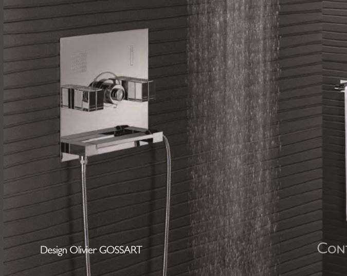 Contemporary style chrome-plated metal shower mixer with polished finishing with plate SO | Shower mixer by INTERCONTACT