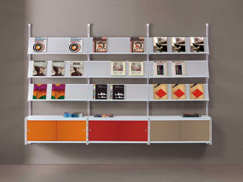 Wall-mounted one-sided retail display unit SOCRATE DISPLAY   Wall-mounted retail display unit by Caimi Brevetti