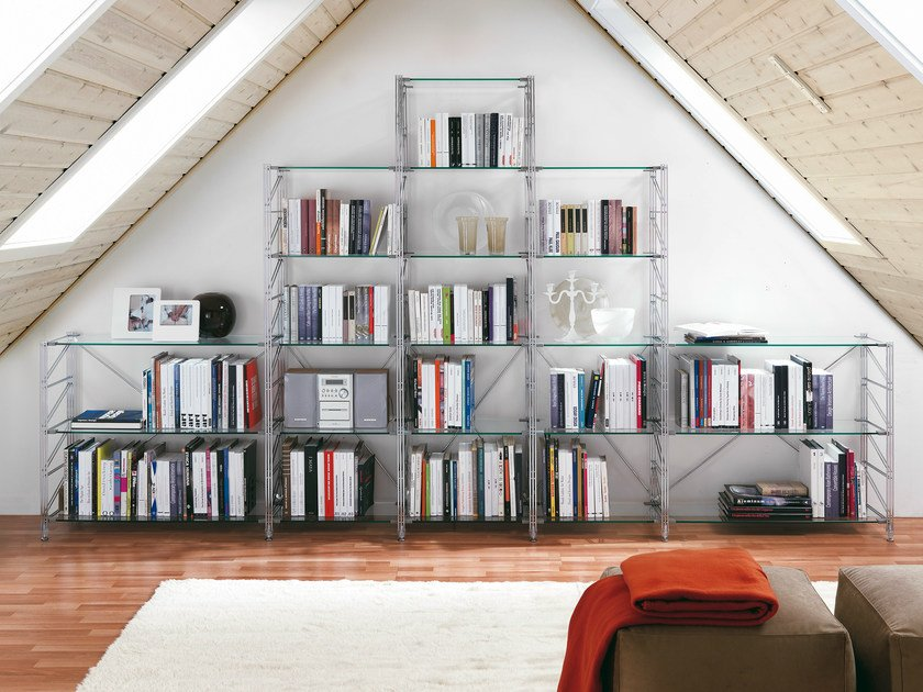 Sectional bookcase SOCRATE HOME | Bookcase by Caimi Brevetti