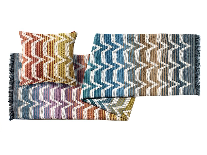 Plaid jacquard in lana SOCRATE by MissoniHome