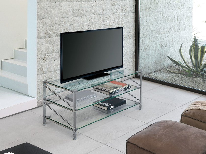 Metal TV cabinet SOCRATE HOME | TV cabinet by Caimi Brevetti