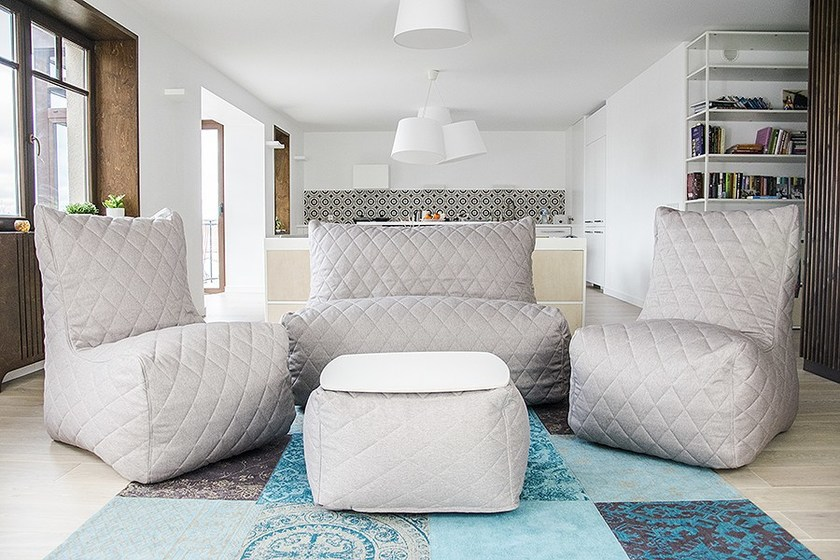 Quilted Seat Sofa A Tessuto In Divano Pusku Posti Nordic 2 MzUSpV
