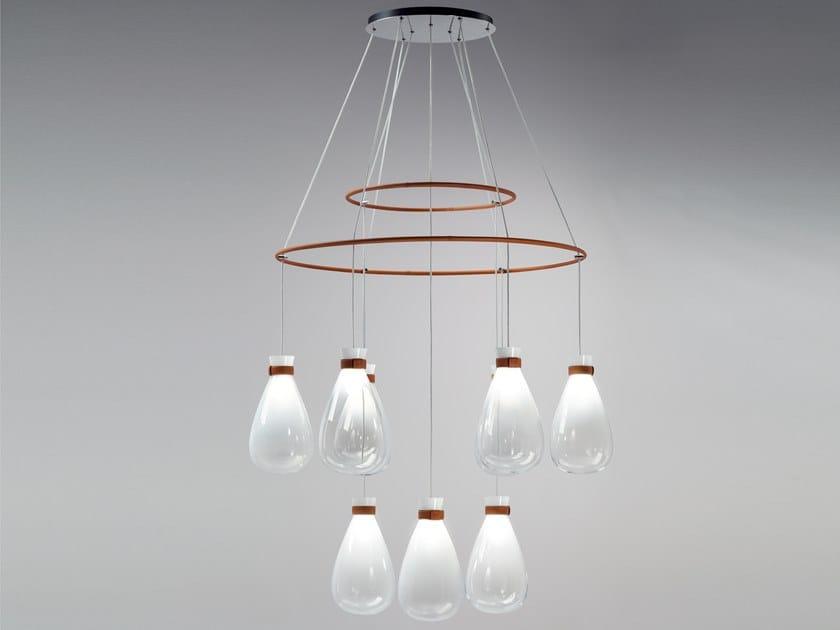 Araña de luces de vidrio soplado SOFFI | Araña de luces by Poltrona Frau