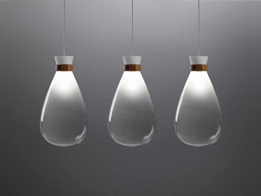 Glass pendant lamp SOFFI by Poltrona Frau