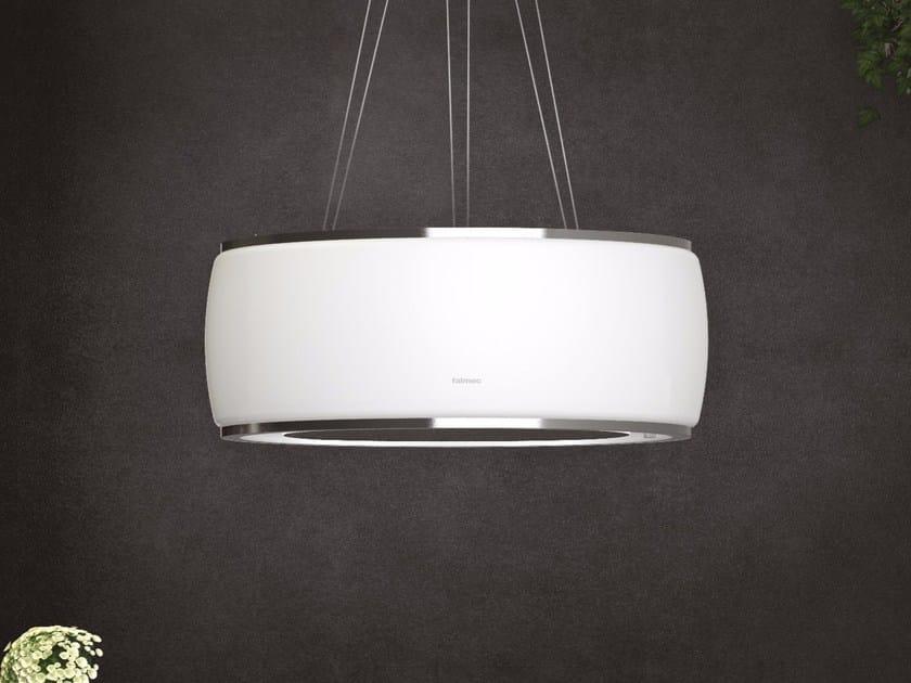 Cappa a carboni attivi ad isola con illuminazione integrata SOFFIO by Falmec