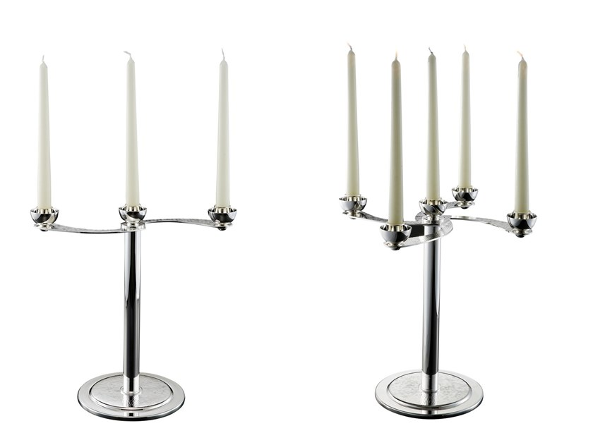 Silver candlestick SOFFIO by ZANETTO