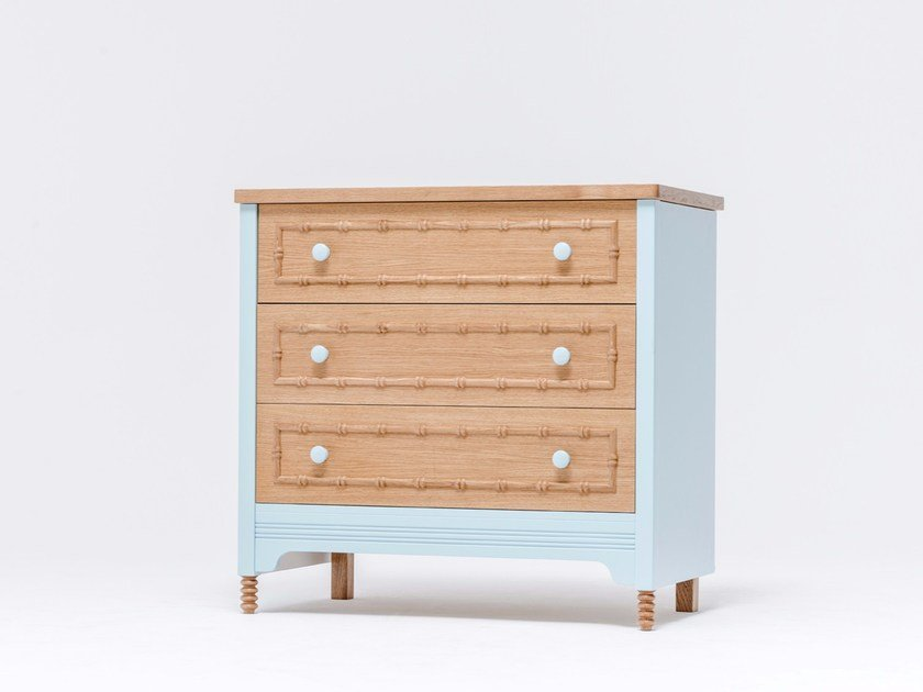 Oak chest of drawers SOFIA DRESSER 3 by ST FURNITURE