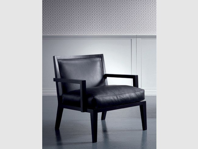 Leather easy chair with armrests SOFIA | Easy chair with armrests by Marac