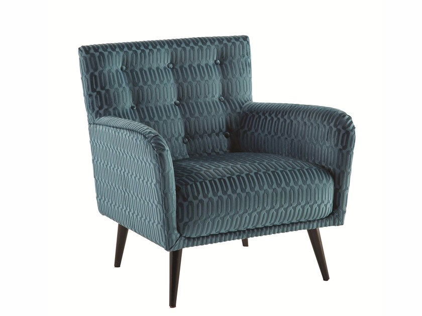 Fabric armchair with armrests SOFIA by ROCHE BOBOIS