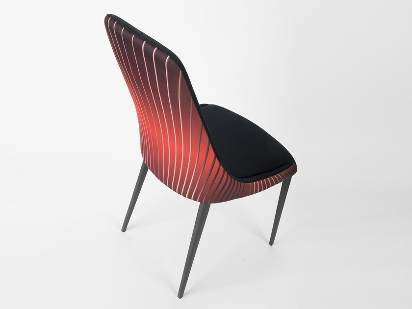 Upholstered high-back fabric chair SOFIA | High-back chair by RIFLESSI