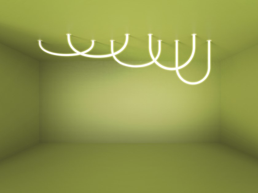 LED direct light ceiling lamp SOFT ALPHABET by Artemide